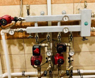 Лучевая разводка отопления в коттедже пос. Гардарика